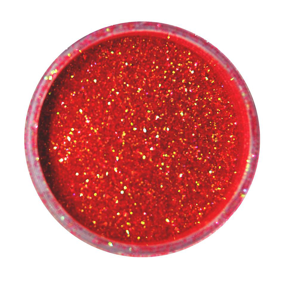Cuccio Icon Glitter Dust - Iridescent Hot Cherry 008 Hex
