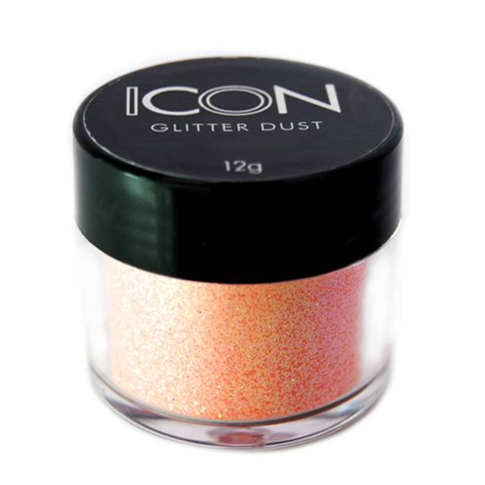 Cuccio Icon Glitter Dust - Iriedescent Hot Peach 008 Hex