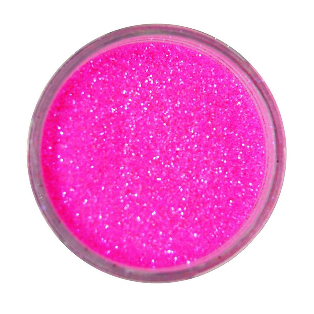 Cuccio Icon Glitter Dust - Iridescent Fluorescent Pink 008 Hex