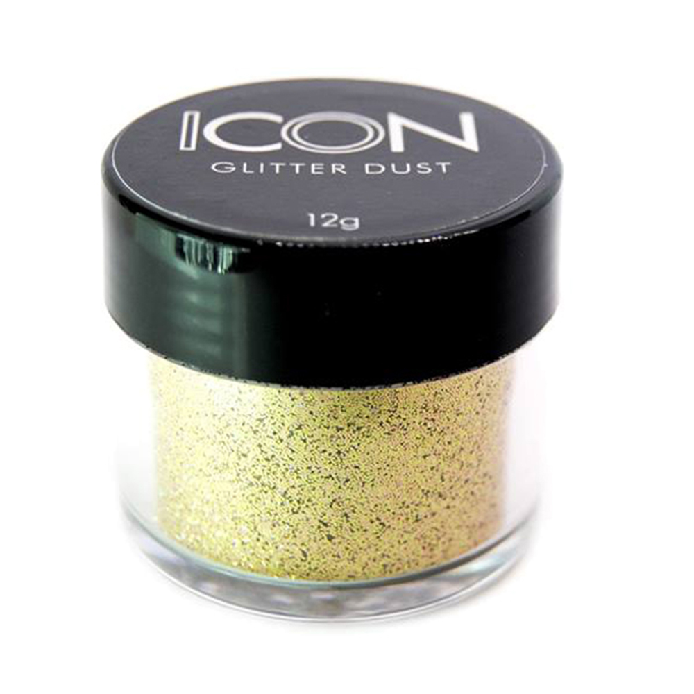 Cuccio Icon Glitter Dust - Holographic Platinum 008 Hex
