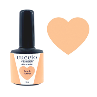 New Cuccio Gel Polish - Rainbow Sorbet Collection - Peach 9ml
