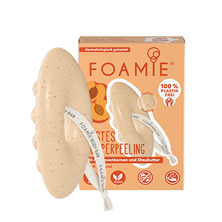 Foamie Exfoliating Shower Bar with Shea Butter and Apricot Seeds 80g