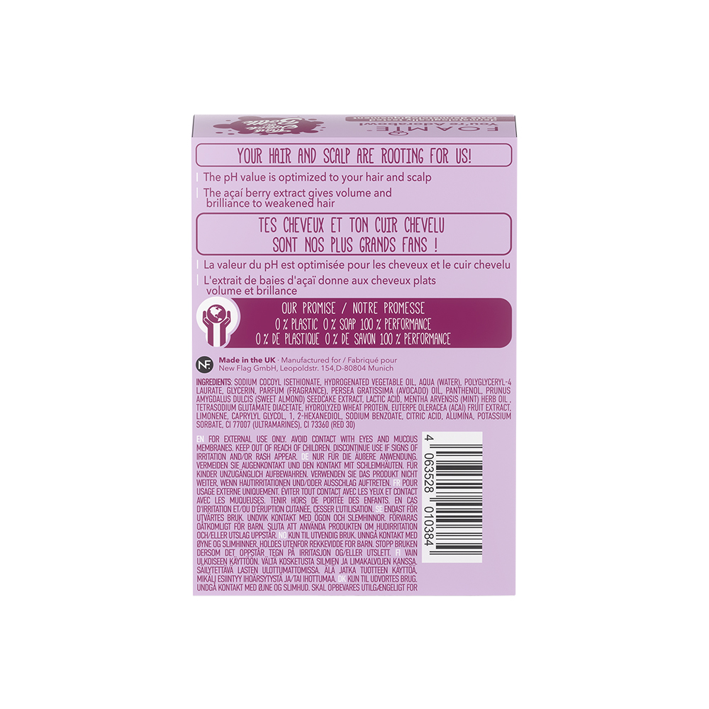 Foamie Conditioner Bar - For Fine Hair with Acai Berry 80g
