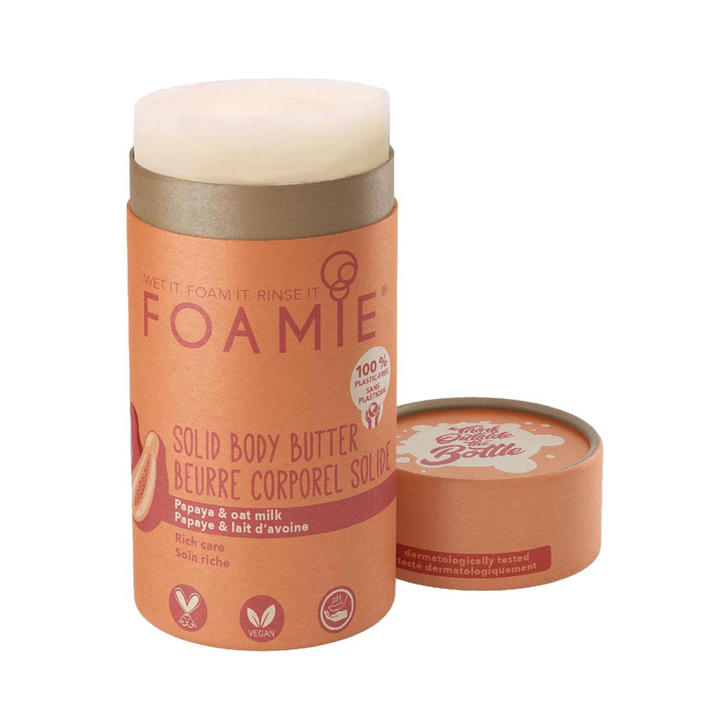 Foamie Body Butter Stick - Papaya and Oat Milk