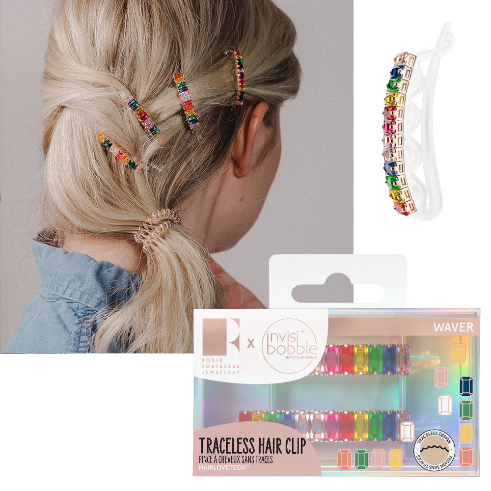 Invisibobble Waver Traceless Hair Clip - Rosie Fortescue 2 Pack