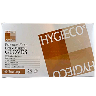 Hygieco Powder Free latex Gloves Large
