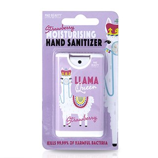 Mad Beauty Llama Queen Strawberry Hand Sanitizer