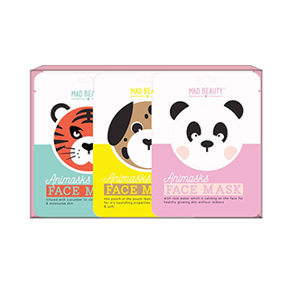 Mad Beauty Animal Face Mask 3pc Set