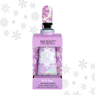 Mad Beauty Let It Snow Hand Care Set Purple - Frosted Berries