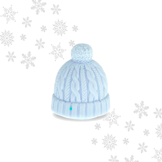 Mad Beauty Let it Snow Beanie Hat Lip Balm - Mint