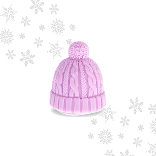Mad Beauty Let it Snow Beanie Hat Lip Balm Lilac - Vanilla