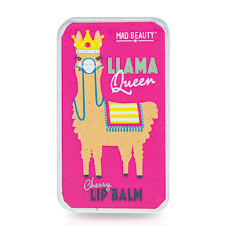 Mad Beauty Llama Queen Lip Balm Slider Tin - Cherry