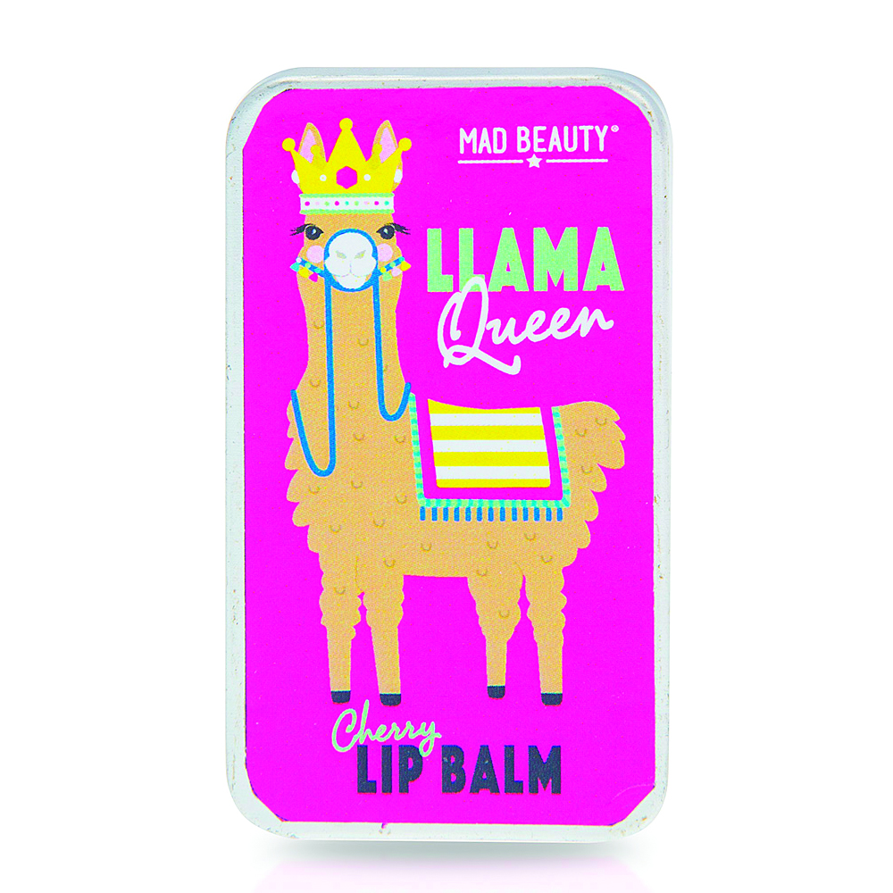 Mad Beauty LLama Queen Lip Balm Slider Tin - Strawberry