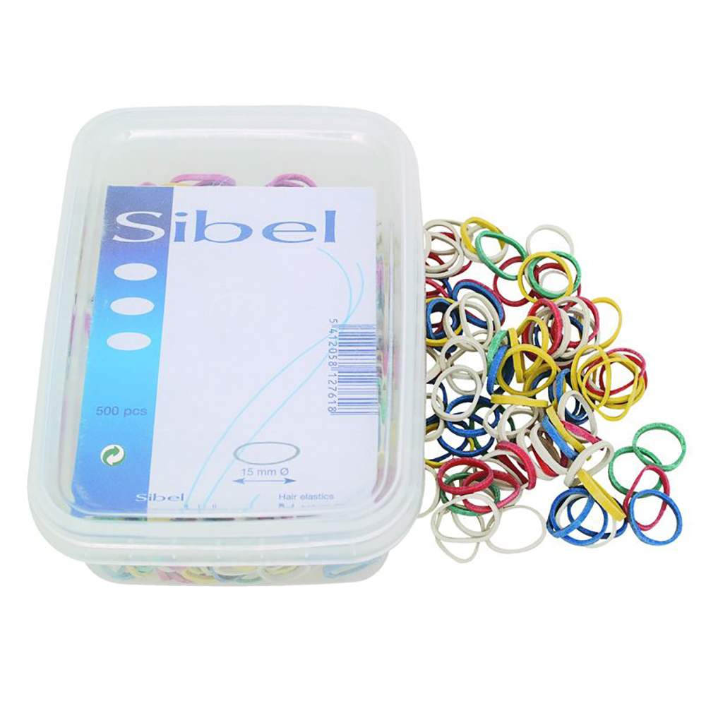 Sibel Fancy Assorted Hair Elastics Box 500