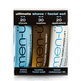 Men-U Set 3X15ml - Ultimate Shave/Facial Set