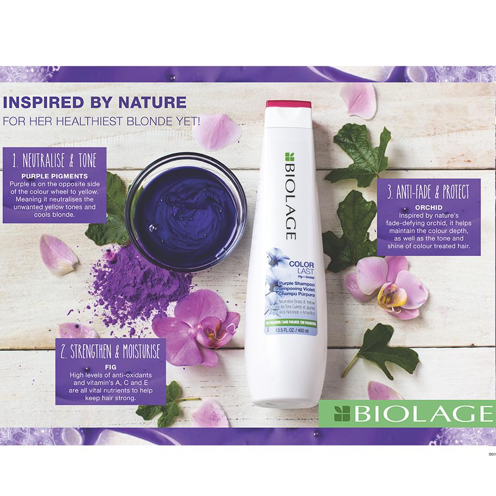 Biolage Colorlast Purple Neutralise Shampoo Litre