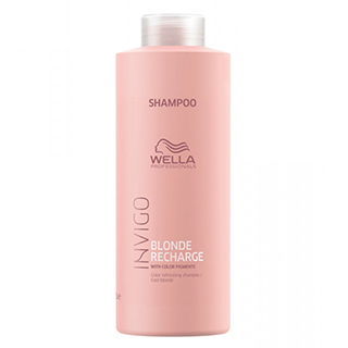 Wella Invigo Blonde Recharge Shampoo 1Ltr